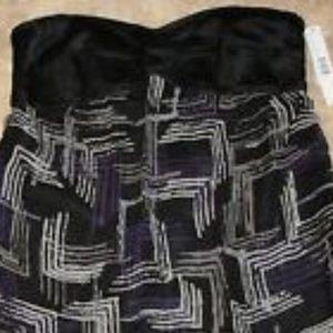 Gianni Bini Tops - $98 Gianni Bini SILK Strapless Top Shirt 6 Black